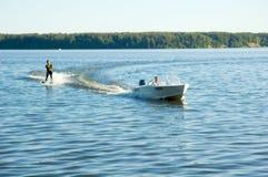 Water skiing. Man water skiing Royalty Free Stock Photos