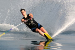 Water skiing stock photography