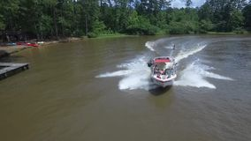 WATER SKIING IN CENTRAL MISSISSIPPI stock video