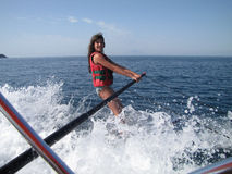 Water skiing fun Royalty Free Stock Photography