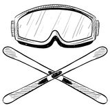 Water skiing gear drawing Royalty Free Stock Photos