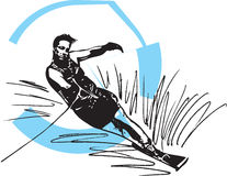 Water skiing illustration Stock Photography