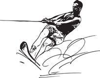 Water skiing illustration Stock Photos