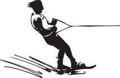 Water skiing illustration Stock Photography