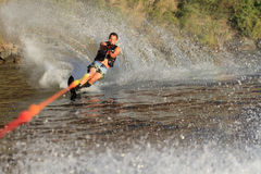 Water skiing in parker arizona. On Colorado River Stock Photo