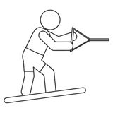 Water skiing pictogram icon Royalty Free Stock Photography
