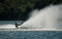 Water Skiing Slalom Action Royalty Free Stock Images