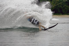 Water Skiing sport on a Lake Royalty Free Stock Images