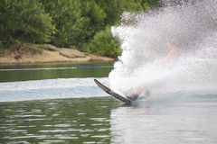 Water Skiing Spray Royalty Free Stock Photo
