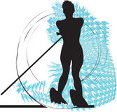Water skiing woman illustration. Made in adobe illustrator Royalty Free Stock Images