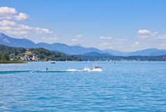 Water skiing .Worthersee. Austria Royalty Free Stock Photography