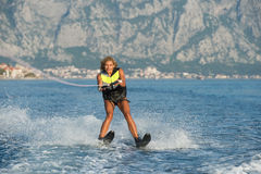 Water skiing Royalty Free Stock Images