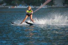 Water skiing Royalty Free Stock Photos