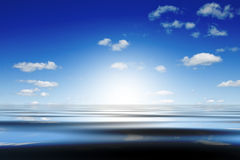 Water and sky. Abstract composition of bright sky and water Royalty Free Stock Photography