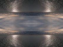 Water and sky. Double-sided mirror image background vector illustration