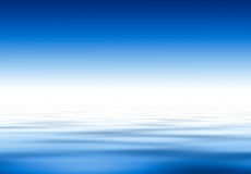 Water and sky.... Deep blue Stock Images