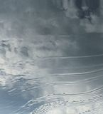 Water and Sky. Abstract image of water, waves, clouds and sky Stock Photo