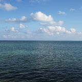 Water and sky in Florida Keys, Florida, USA. Royalty Free Stock Image