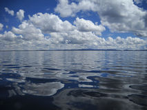 Water and Sky, Lake Titicaca, Peru Stock Photography