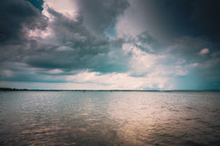 Water and sky in the Reservoir vintage Stock Images