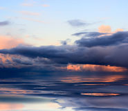 Water sky and sunset Royalty Free Stock Photography
