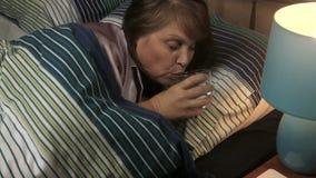 Water Sleep Woman stock footage