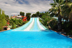 Water slide. In amusement park, Marineland, French Riviera Royalty Free Stock Photography