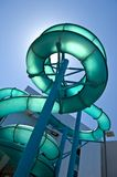 Water Slide. Adventerous water slide against a summer blue sky Royalty Free Stock Photos