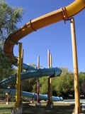 Water Slide. At Water Park Royalty Free Stock Images
