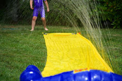Water Slide. Slip and Slide Summer Water Fun stock images