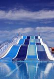 Water slide at amusement park Stock Photos