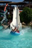 Water Slide in Aquapark Resort in Egipt Stock Photo