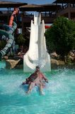 Water Slide in Aquapark Resort in Egipt Royalty Free Stock Photo