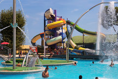 Water slide attraction Royalty Free Stock Image