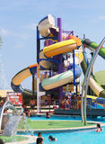 Water slide attraction Royalty Free Stock Images