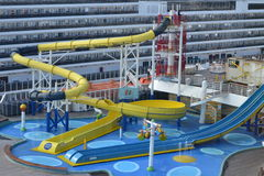 Water slide. A water slide on a cruise ship Royalty Free Stock Photo