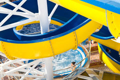 Water slide on a cruise ship Royalty Free Stock Image
