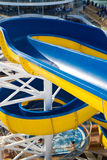 Water slide on a cruise ship Stock Image