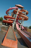 Water Slide. Full view of a water slide at the end of the ride Royalty Free Stock Photos