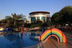 Water slide, the hotel areal Crystal Rocks, Salamis, Northern Cypru Stock Images