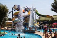 Water slide at Illa Fantasia  Water Park Stock Images