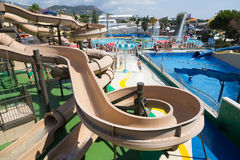 Water slide at Illa Fantasia Water Park Royalty Free Stock Photography