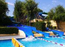 Water slide at Illa Fantasia  Water Parks Royalty Free Stock Images