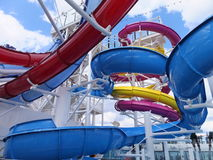 Water Slide on Norwegian Breakaway Stock Photo