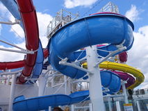 Water Slide on Norwegian Breakaway Stock Images