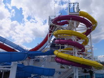Water Slide on Norwegian Breakaway Royalty Free Stock Photo