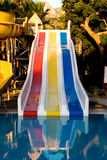Water slide at the park Stock Image