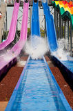 WATER SLIDE AT THE PARK . Stock Photo