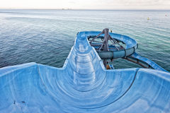 Water slide by the sea Royalty Free Stock Images