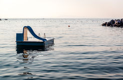 Water slide in the sea Stock Photo